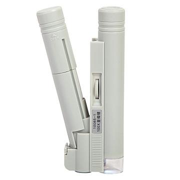 100倍带刻度LED光源便携双管显微镜放大镜便携式读数鉴定印刷网点