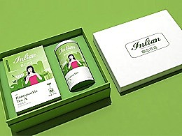 花茶-《颐恋花语》包装设计   蜂鸟停在忍冬花上
